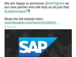 SAP inicia en los eSports como patrocinador de Team Liquid