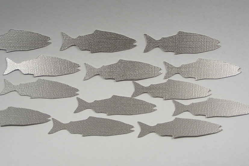 Silver Salmon Die Cuts