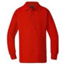 Long Sleeve Polo Shirt w/ School Logo
