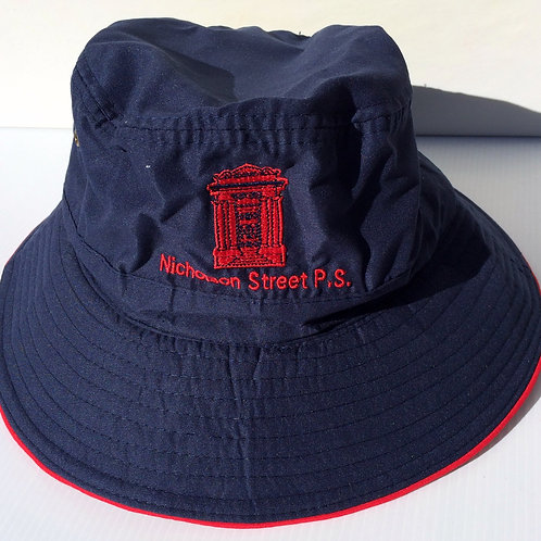 Bucket Style Hat with school logo