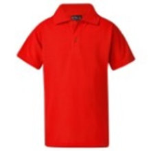 Short Sleeve Polo Shirt w/ School Logo