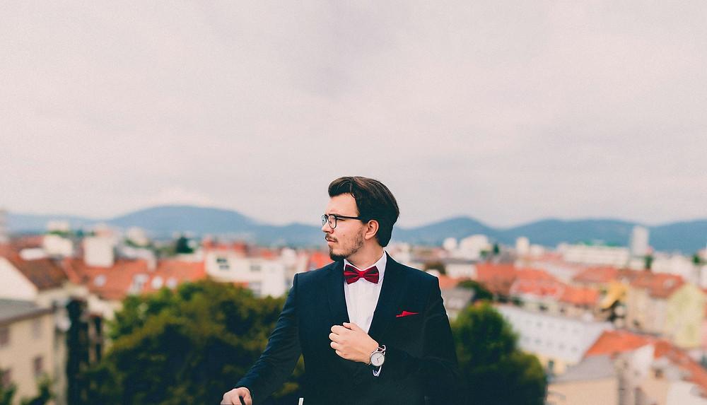 Matching av klokker og klær for herrer