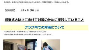 重要【ジュニアスイミング】営業再開に向けてのお願い(感染予防対策) 5/28 16:15更新