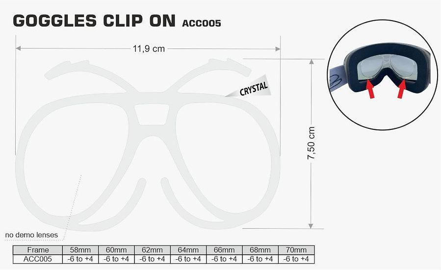 GOGGLE OPTICAL CLIP