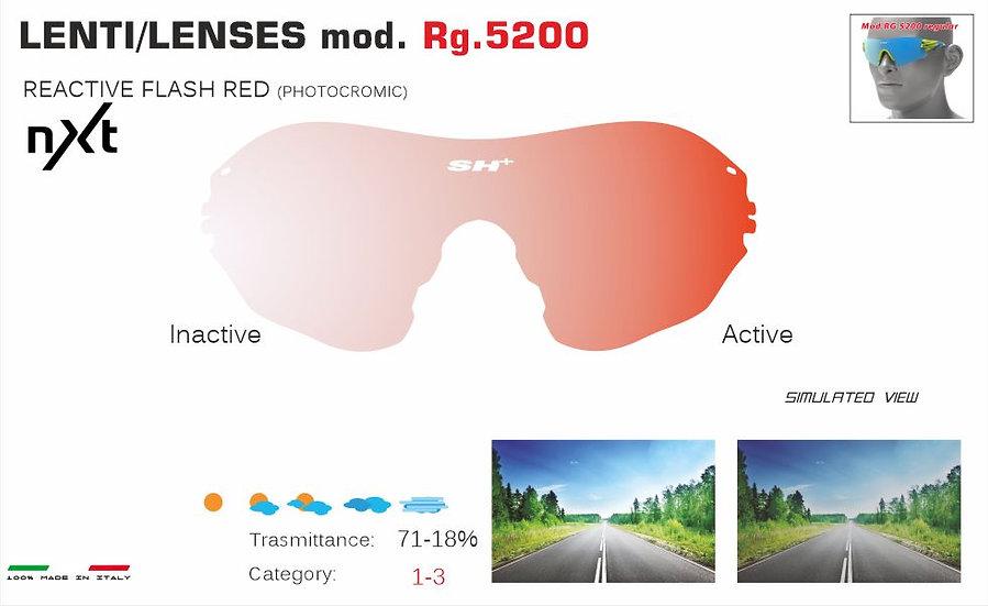 RG 5200 LENS/LENTE PHOTOCROMIC FLASH RED