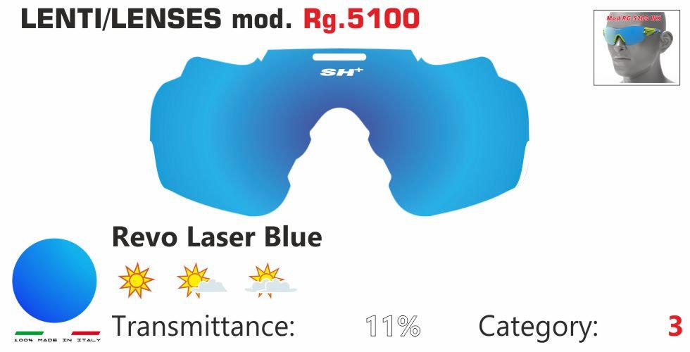 RG 5100 LENS/LENTE REVO LASER BLUE