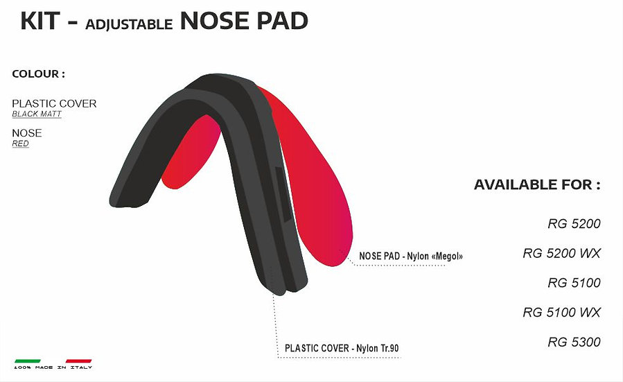 NOSE PADS BLACK RED