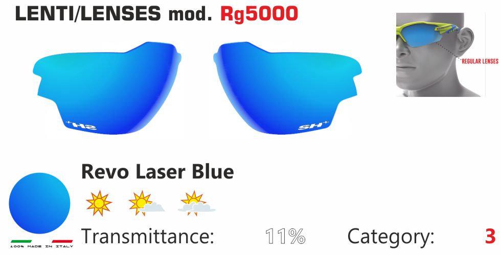 RG 5000 LENS/LENTE REVO LASER BLUE