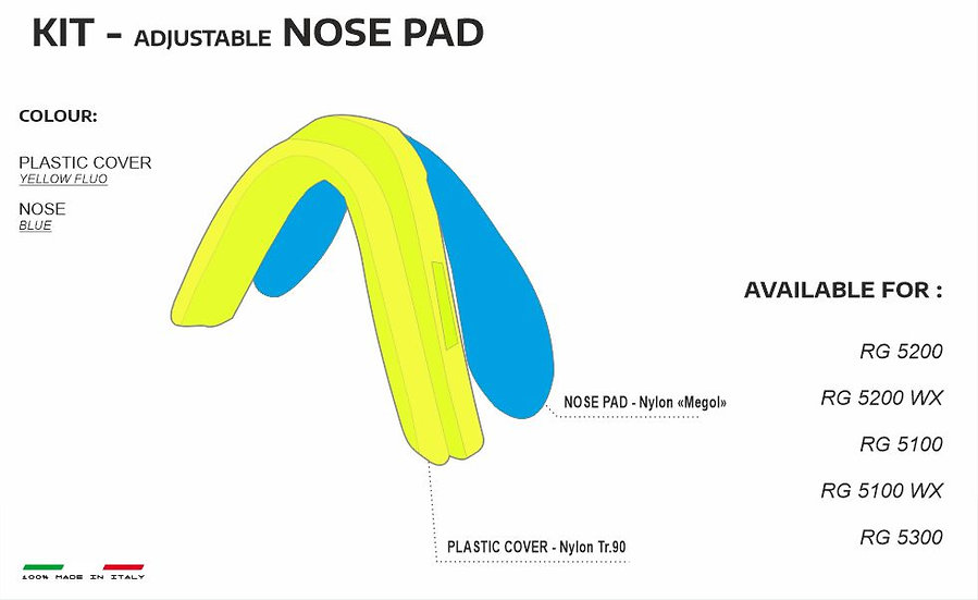 NOSE PADS YELLOW BLUE