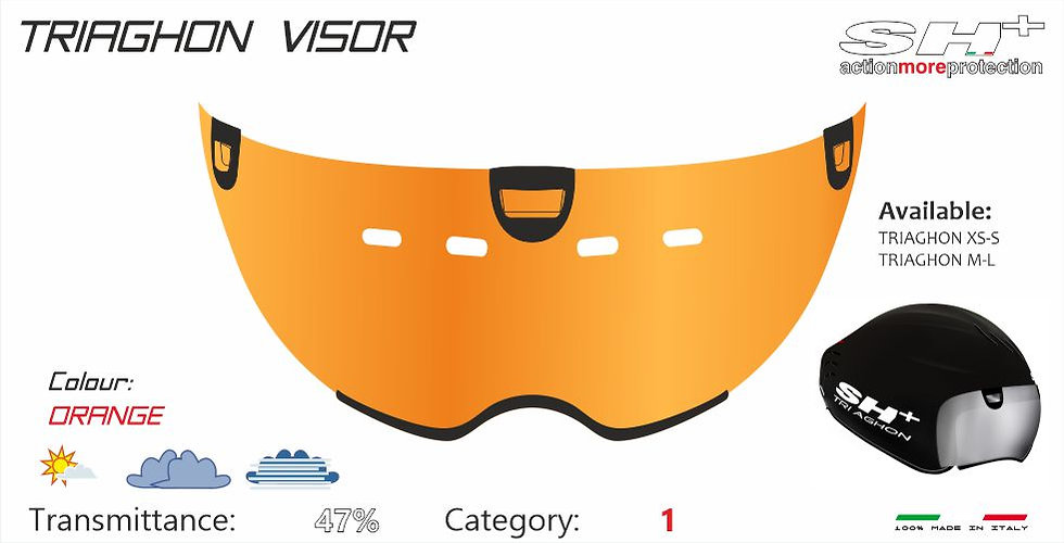 VISOR ORANGE TRIAGHON