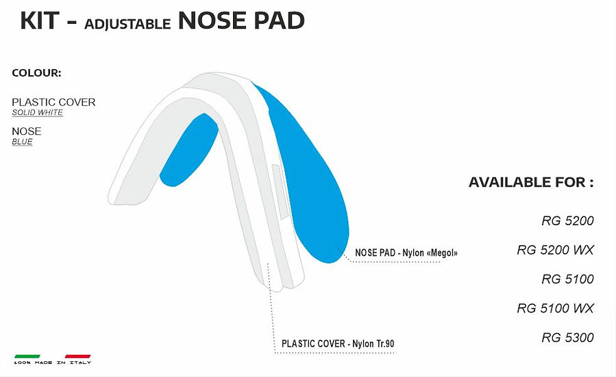 NOSE PADS WHITE BLUE