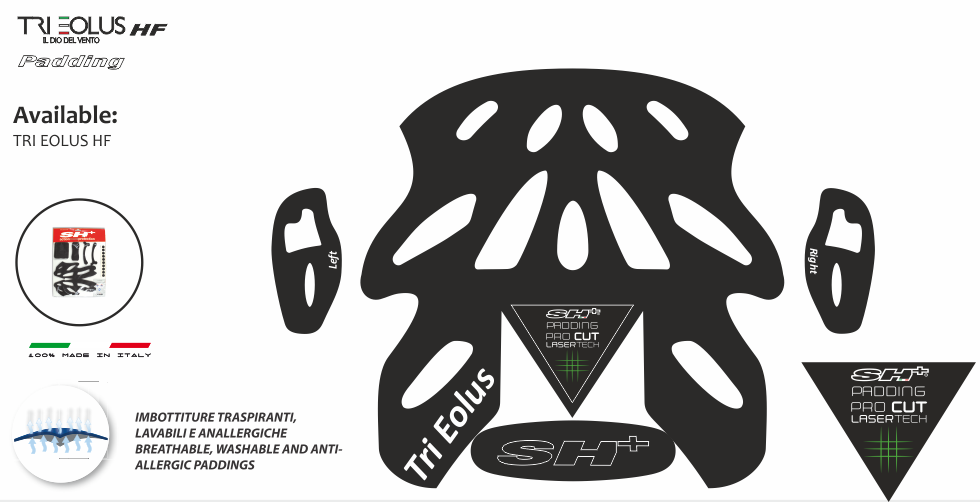 PADDING/INTERNO BLACK  TRI EOLUS HF