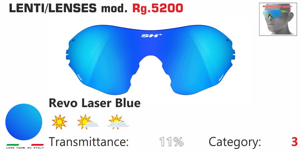RG 5200 LENS/LENTE REVO LASER BLUE