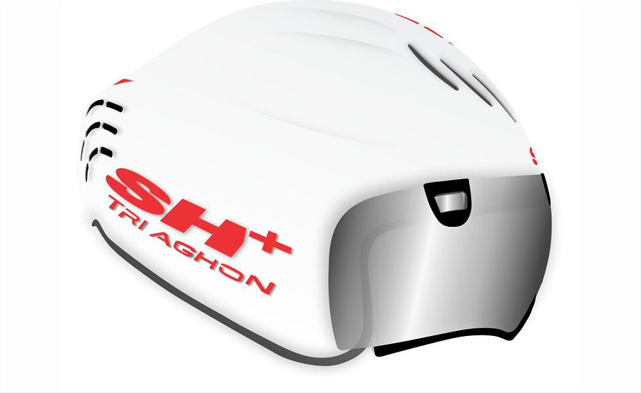 TRIAGHON - GLOSSY WHITE RED