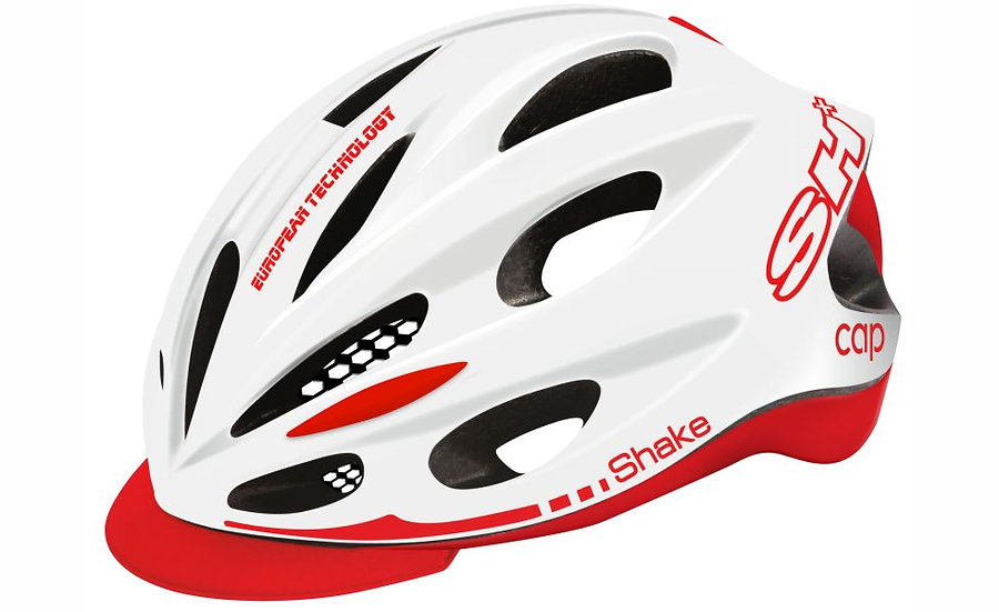 SHAKE CAP WHITE  RED