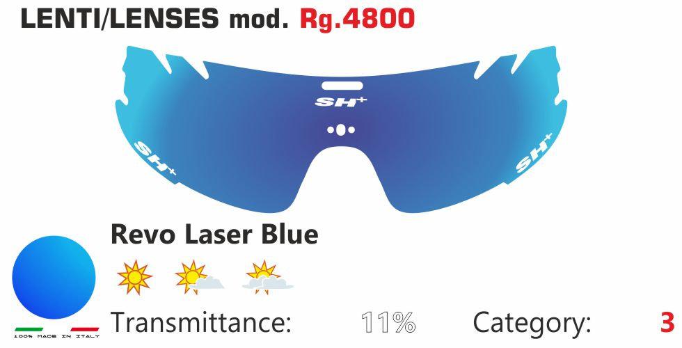 RG 4800 LENS/LENTE REVO LASER BLUE