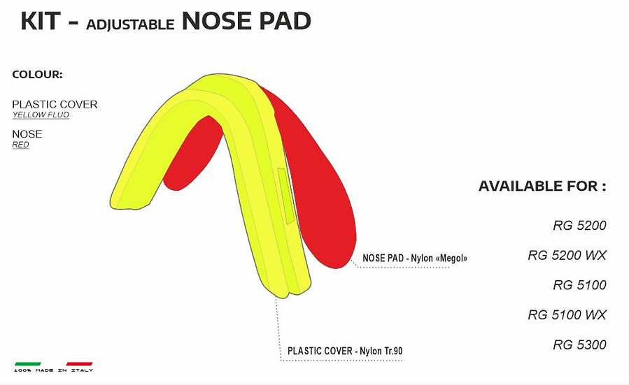 NOSE PADS YELLOW RED