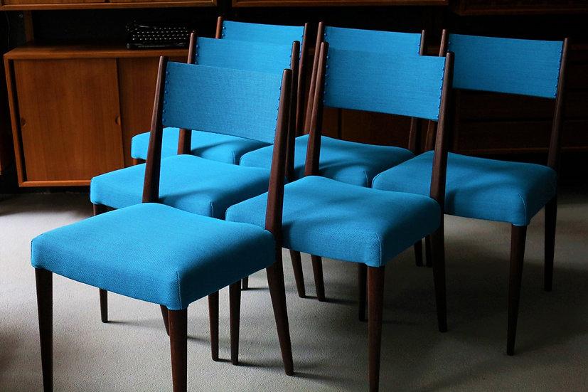 6x Mid-century Stühle | Palisander