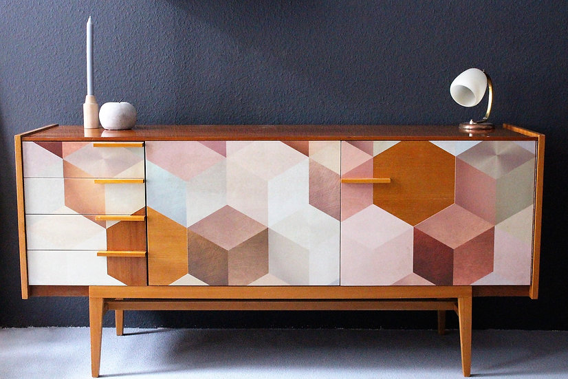 mid-century sideboard | cubes