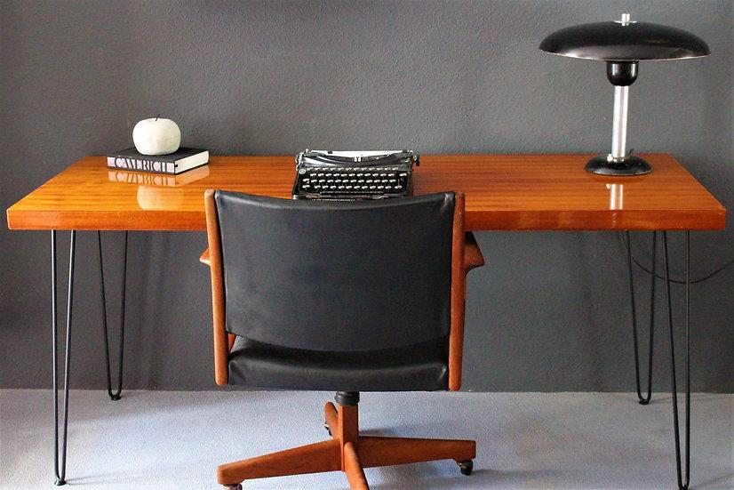 70er Schreibtisch | Hairpin-Beine