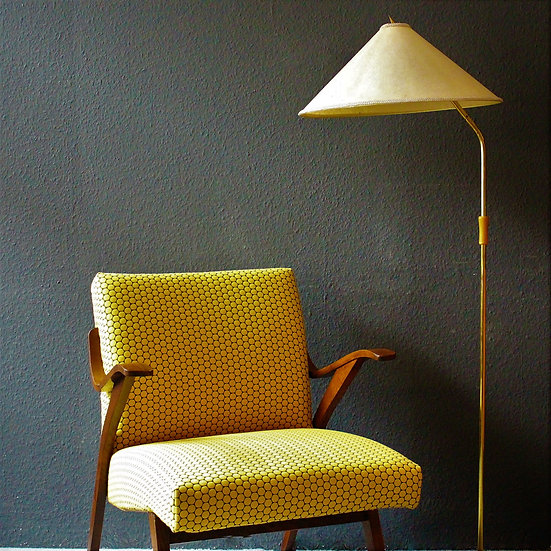 mid-century tatra loungesessel | lemon drop
