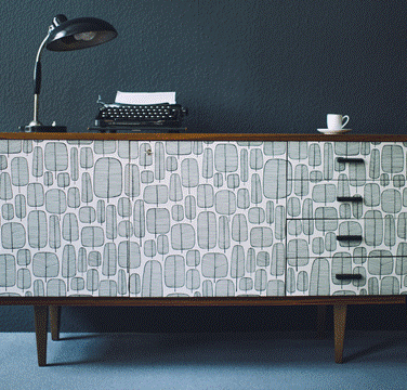 mid-century sideboard | missprint wallpaper | redesigned