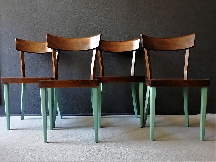 4er set | 1950er wiesner-hager stühle | redesigned