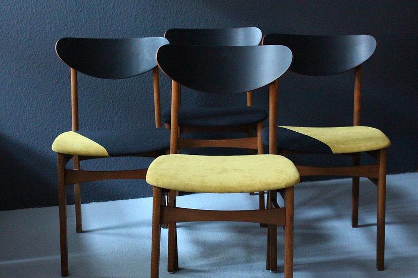 50er/60er Stühle | senfgelb & schwarz