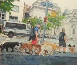 street scene in NY