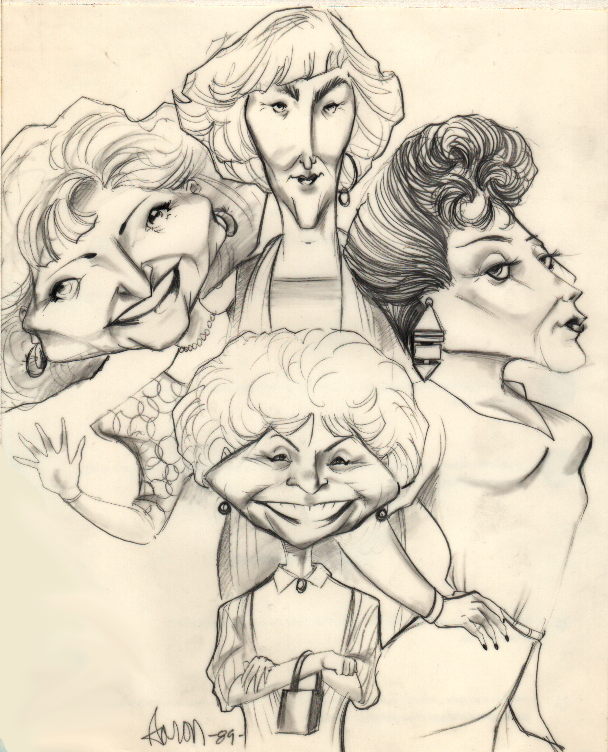 Golden Girls caricature