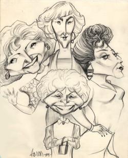 Golden Girls caricature
