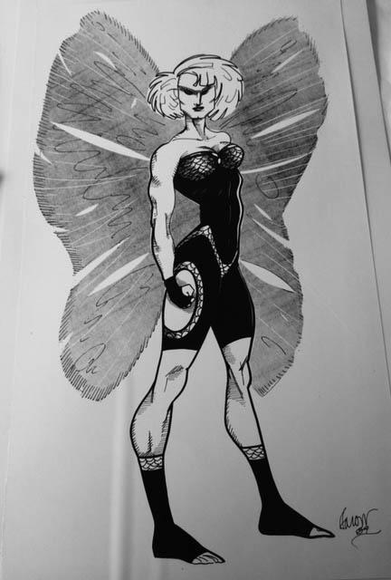 Moth Woman concept