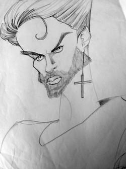 "George Michael ""Faith"" caricature"