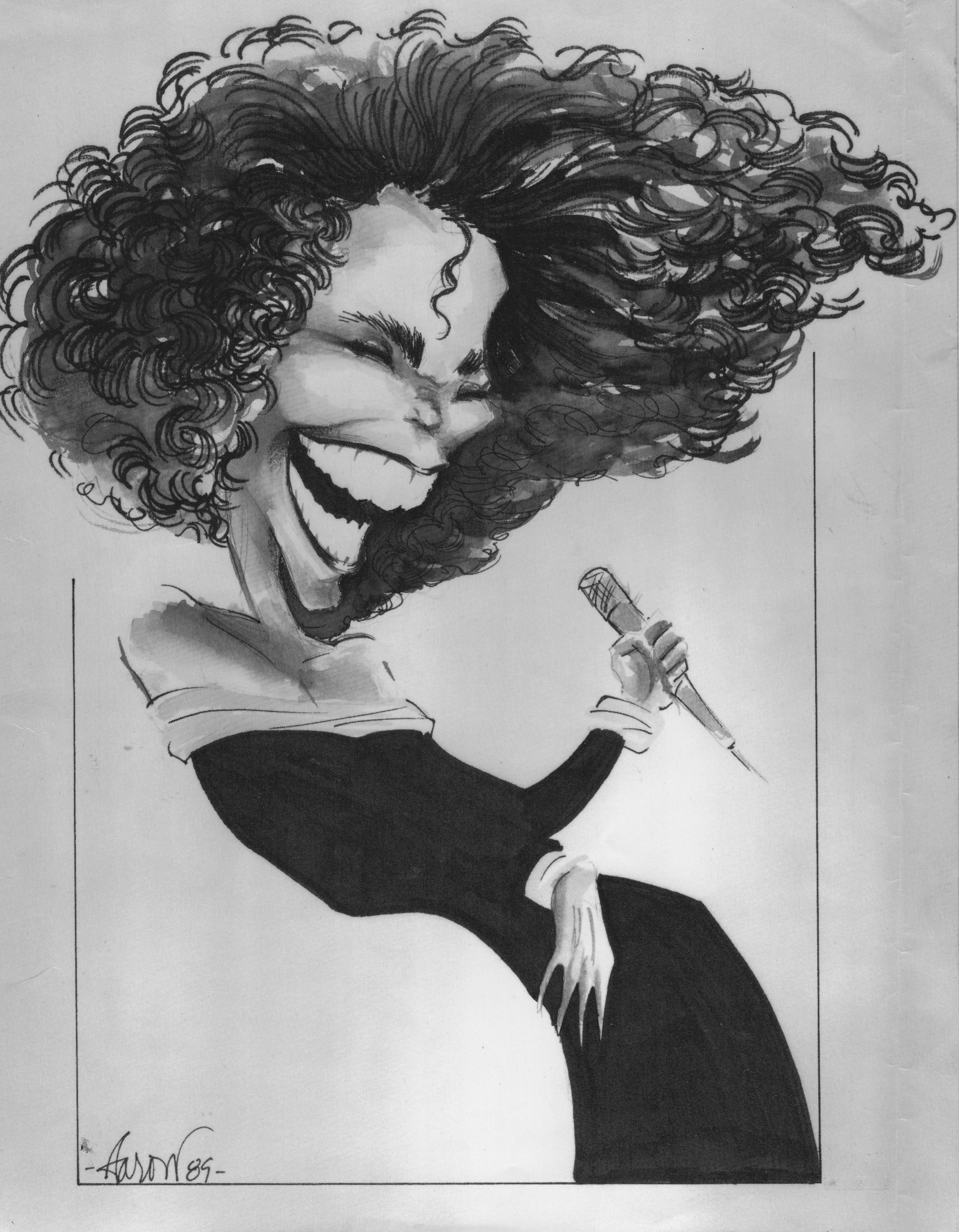 Whitney Houston Caricature