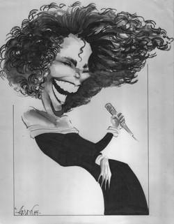 Whitney Houston Caricature