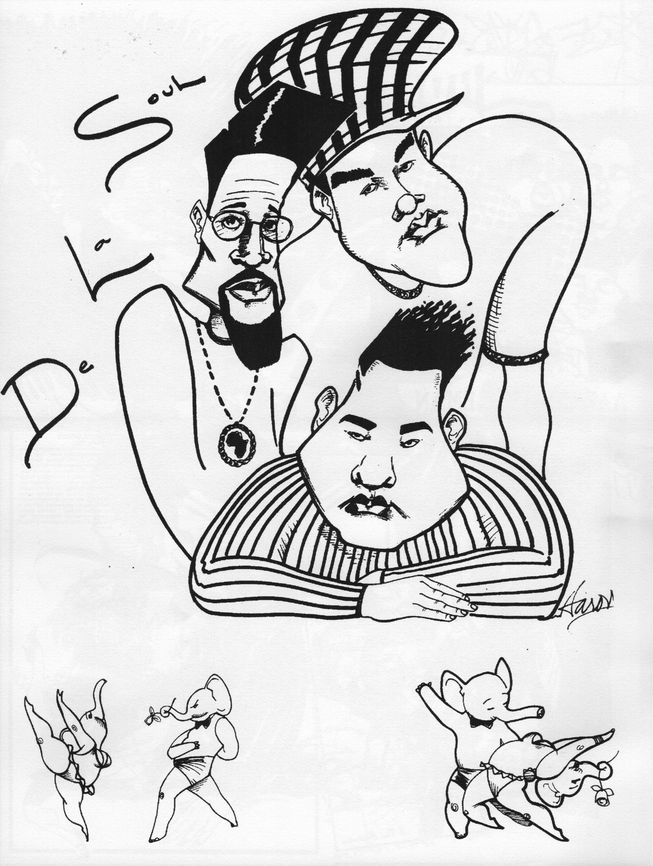 De La Soul Caricature 2