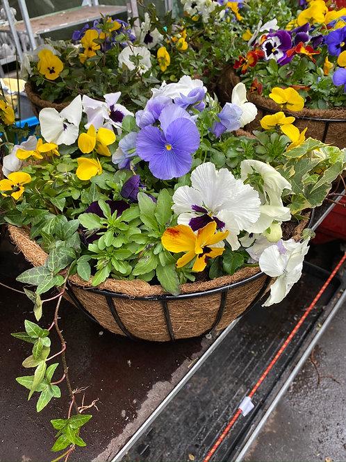 """Autumn /Winter Hanging Basket 14"""""""