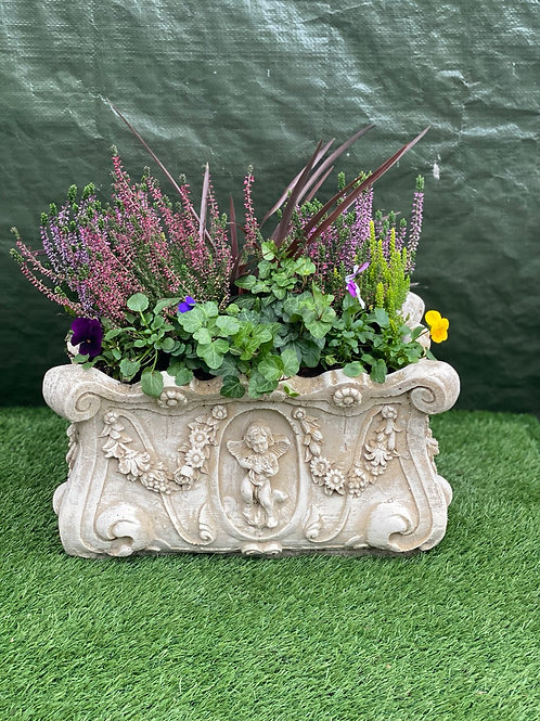 Cherub Stone Trough Planter