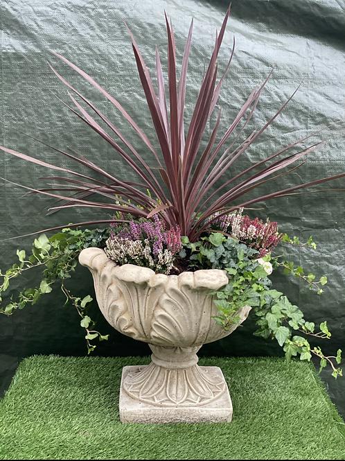 Tulip Stone Planter & Pedestal