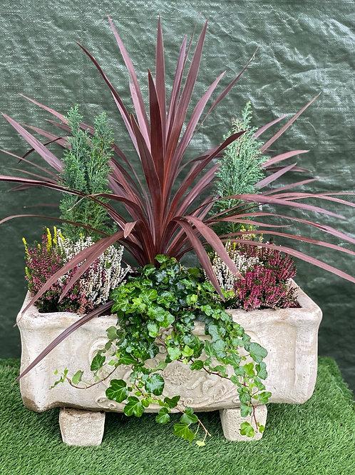 Medium Stone Trough Planter (inc plants)