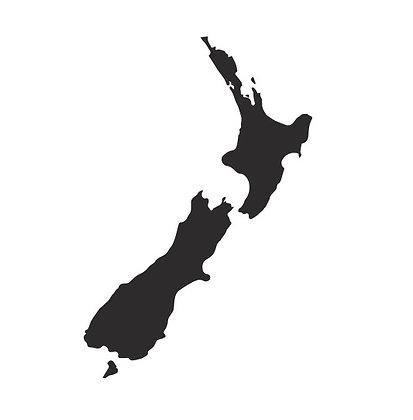 NZ Map Wall Art - Natural Steel
