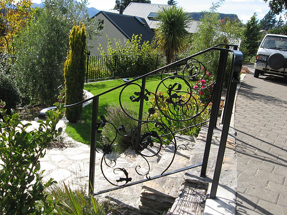 Decorative Balustrade with Forged Ends