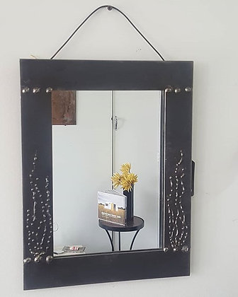 """Aquatic Theme"" Natural Steel Framed Mirror"