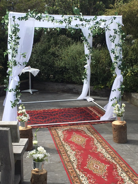 Decorated Chuppah Arch $250