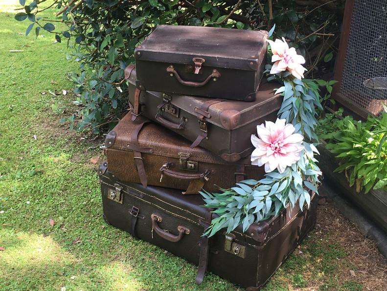 Vintage Luggage Stack - $25