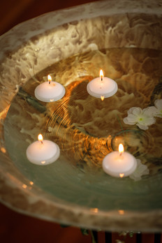 Floating candle bowl  $50