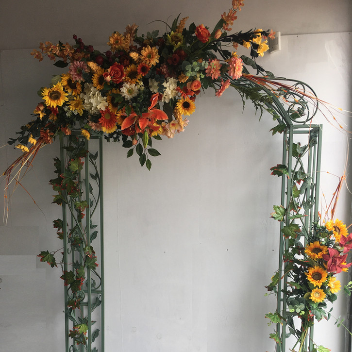 Forever Autumn Wedding Arch