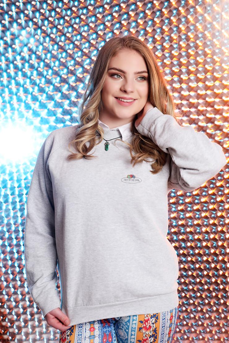 model makeup photography studio shoot girl posing on reflective background