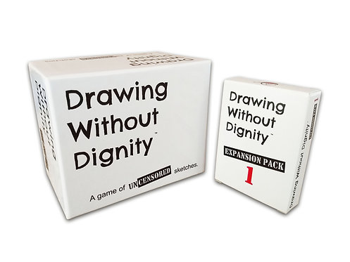 Drawing Without Dignity and Expansion Pack #1 - Combo Pack