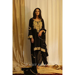 Black Phiran set with Tilla Embroidery II
